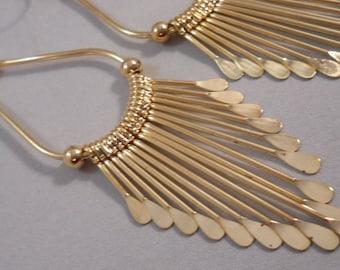 GoldTone Teardrop Spike Dangle Earrings