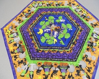 Colorful and Fun Halloween Hexagonal Table Topper