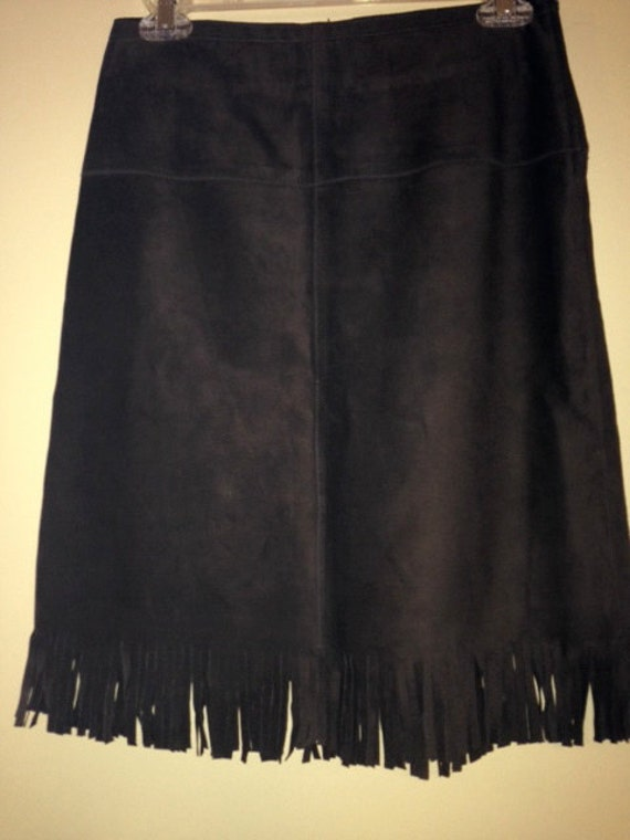 suede leather skirt express size 1 2