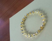 Yellow and Silver Swarovski Bracelet