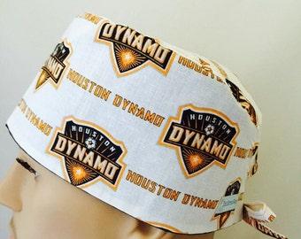 Unisex Scrub Cap - Houston Dynamo Scrub Hat - Scrub Hat - Scrub Cap - Doctors Gift - Nurses Scrub hats - Tech Caps - Nurse's Gift