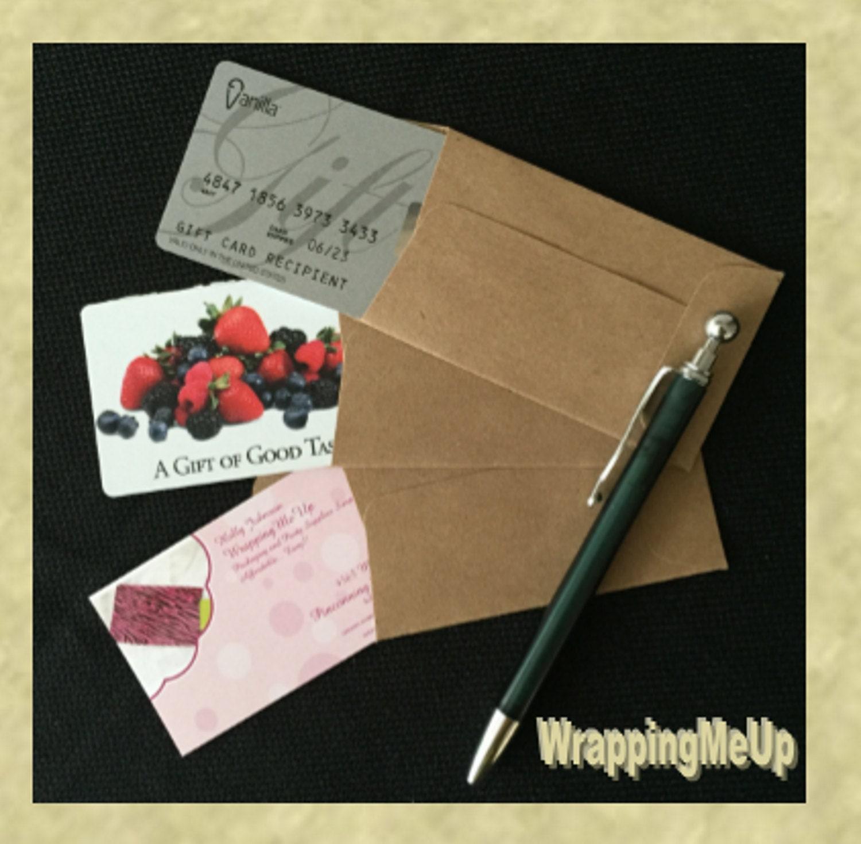 "50 2 25""x3 75"" Mini Kraft Envelopes Business Card Envelopes"