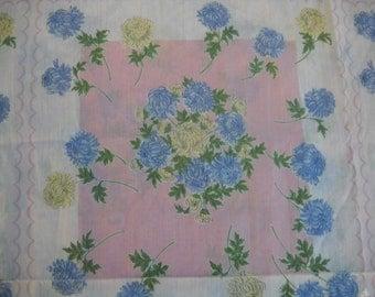 Vintage Fabric, Hankie Fabric, Unfinished Skirt, Beautiful Fabric