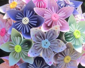 TEACUP- Paper Flower Bouquet / Paper Bridal Bouquet, Kusudam, Origami Bouquet, Wedding, Bridal Bouquet, Bridesmaid Bouquet