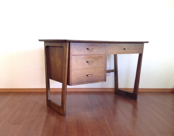 Vintage Mid Century Modern Desk Retro Office Furniture