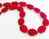 Red Turquoise Necklace, Red Stone Necklace, Red Necklace, Red and Silver Necklace, Southwestern Necklace