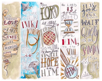 Lamentations 3 Bible Bookmark / Bible Journal Tag **INSTANT DOWNLOAD**