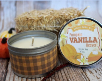 Pumpkin Vanilla Dessert Soy Candle//Autumn Gift //Fall Candles // wholesale
