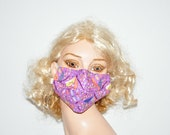 Surgical face mask, Dragonfly, purple, after face surgery, dust mask, dirt mask, beauty product, personal care, cotton