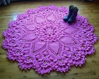 PINEAPPLE SONG; crochet doily pattern; pdf; Kristoffersen; Home decor; Popular Crochet Rug; crochet thread; ePattern; DIY, Cottage; Shabby