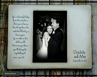 Father Daughter Dance gift, Personalized Father of the Bride Wedding Picture Frame 4x6 Keepsake Daddy and Me 5x7 Song