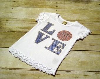 LOVE Basketball Bling T *sz 6x*- Ready to Ship