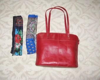 Satchel hand bag and scarf bundle