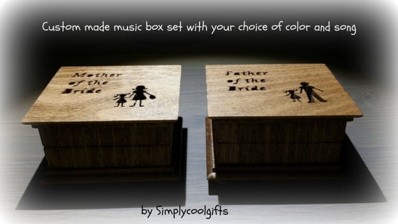 Wedding Gift Music Box : wedding music box, personalized gift, mother of the bride gift, mother ...