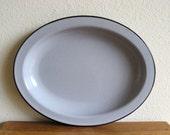 Vintage Oval Enamel Platter