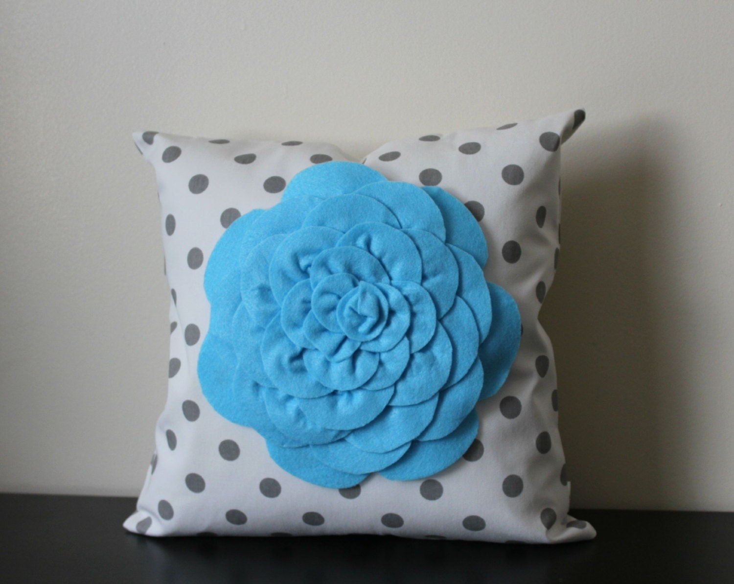 Baby Blue Decorative Pillow : Decorative Throw Pillow Cover Baby Blue Mum Flower White