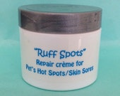 Dog hot spot, itchy skin, Bug Bite, allergies aloe vera cream by Ruff Life!  Natural ingredients, ruff spots, pet grooming
