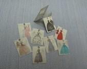 Miniature Fashion folder  Fashion Sketches 1:12 Scale Or 1/6 Scale Dollhouse Miniature playscale Dollhouse Dollhouse Miniature  Accessory