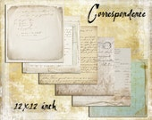 Digital Paper Pack The Correspondence Collection 12x12 downloadable printables