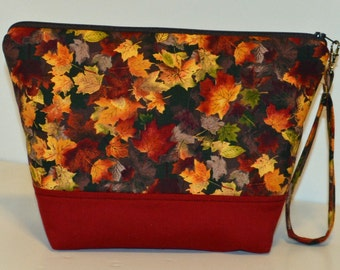 Fall Maple Leaves project bag