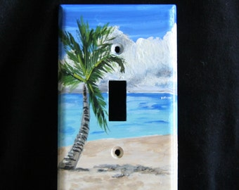 Palm Tree II Light Switch Plate