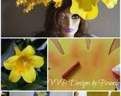 How to Tutorial -Instruction teaching Make your own yellow daffodil foam flower bloom Hat Ev FOAM Giant Bloom