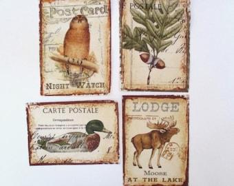 "4 Woodland Animals Patch 5"" Iron On Set"