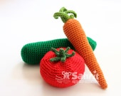 BUNDLE Instant Download PATTERN Vegtables Play Food Toy House Rattle