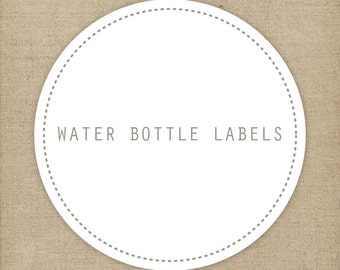 Matching water bottle labels | Printable