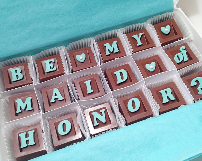 Will You Be My Maid of Honor Gift - Maid of Honor Chocolate - Unique Gift for Bridal Party