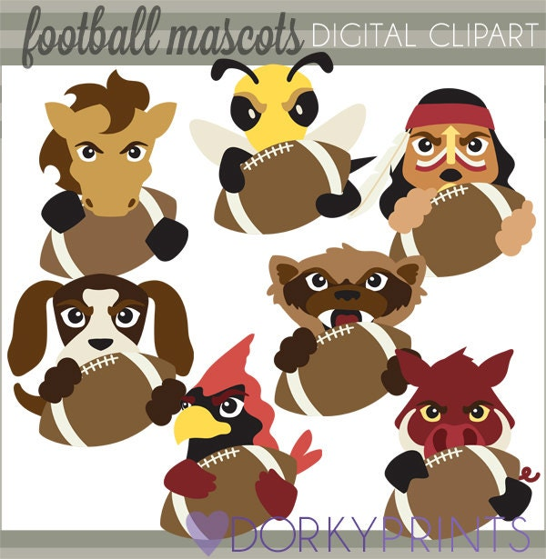 football mascot clipart free - photo #34