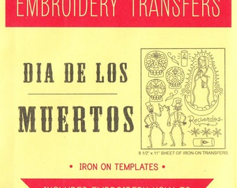 Day of the Dead Hand Embroidery Pattern   Sublime Stitching Dia De Los Muertos Iron On Transfer, Embroidery Designs, Sugar Skull, Calaveras