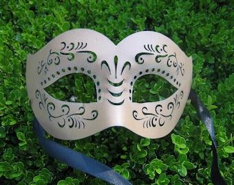 Tan  Leather Masquerade Mask