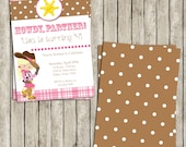 Diy Printable Howdy, Partner! Sheriff Cowgirl Light/Blonde 5x7 Invite - Western Invite - Country Invite - Cowgirl Party!