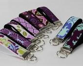 Purple Wristlet Key Fob Teacher Gift Bridesmaid Gift