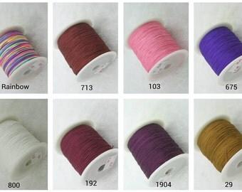 31 COLORS Available--1 Roll 0.4mm Shamballa Macrame Beading Nylon Kumihimo String Chinese Knot Nylon Braided Beading Cord