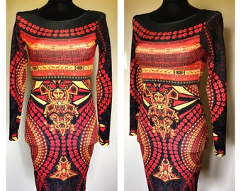 Aztec print dress - size S
