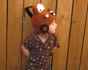 Rusty Tow Truck Hat - Crochet Tow Truck Hat - Crochet Cars Hat - Kids Winter Hat - Crochet Winter Hat - Crochet Hat - Halloween Hat