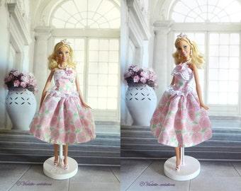 Flower dress for barbie doll