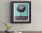 Black Lollipop Tree Signed Art Print of Signature Original By Rafi Perez