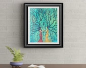 Sparrow Sisters Signed Art Print of Signature Original By Rafi Perez