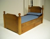 Vintage Boy's Bed, 1:12 scale