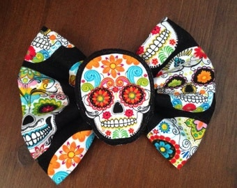 Day of the Dead Dia de Los Muertos Hair bow clip accessories
