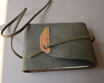 Distressed Bound Leather Pocket Diary Journal Notebook Sketchbook Custom Order (489)
