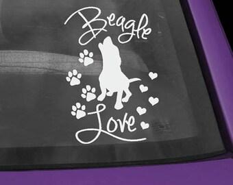 Beagle Love Vinyl Decal