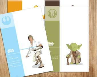 Star Wars - Pick ANY 9 Characters - POSTCARD SIZE - 6 x 4 inches