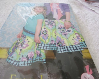 Sewing pattern for Mother and Daughter matching skirts in sizes XS-XL for adult and 12M-10 for the girl by Amy Hamberlin for Kati cupcake