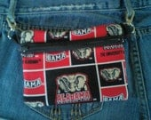 Crimson Tide Belt Loop Hip Bag/ Zipper Pouch