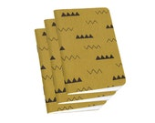 Cute Pocket Diary - Small Sketchbook, Food Journal, or Sketch pad - Gold Ochre Hills & Valleys