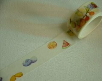 1 Roll of Japanese Washi Masking Tape- Summer Fruit